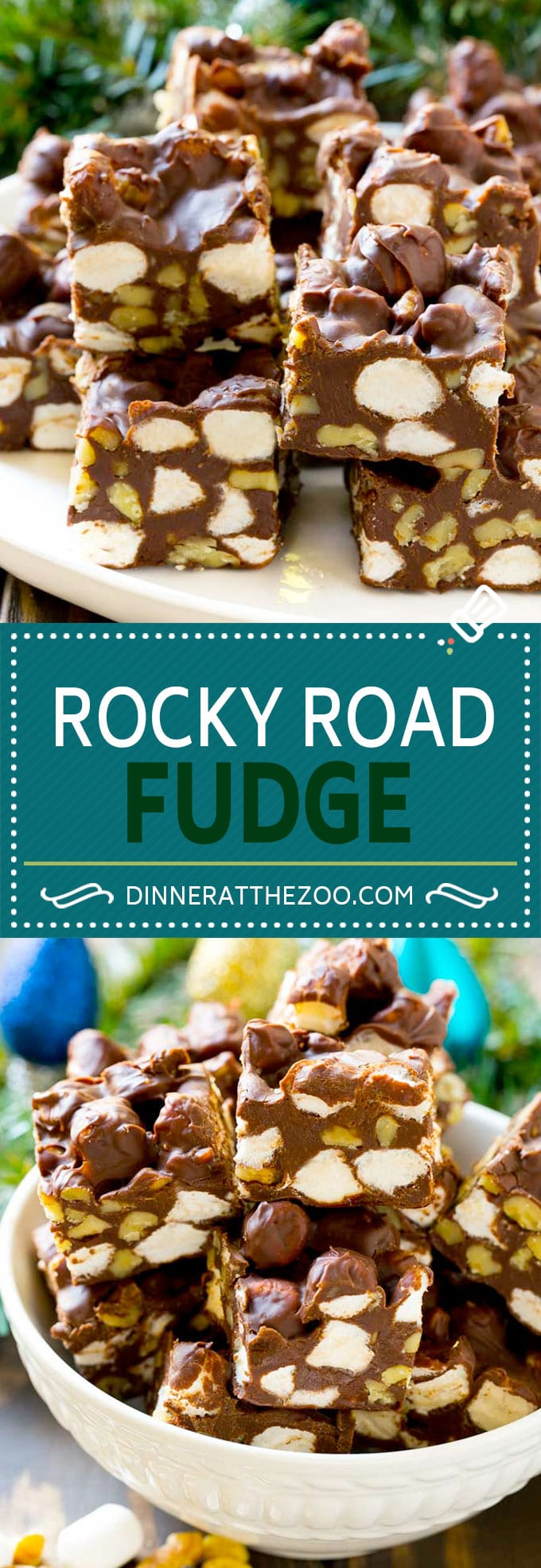 Rocky Road Fudge | Chocolate Marshmallow Fudge | Chocolate Nut Fudge | Microwave Fudge