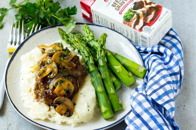 Slow Cooker Salisbury Steak with Mashed Potatoes