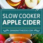 Slow Cooker Apple Cider | Mulled Apple Cider | Crockpot Apple Cider | Apple Cider Recipe with Apple Juice #cider #apple #applecider #drink #crockpot #slowcooker #dinneratthezoo