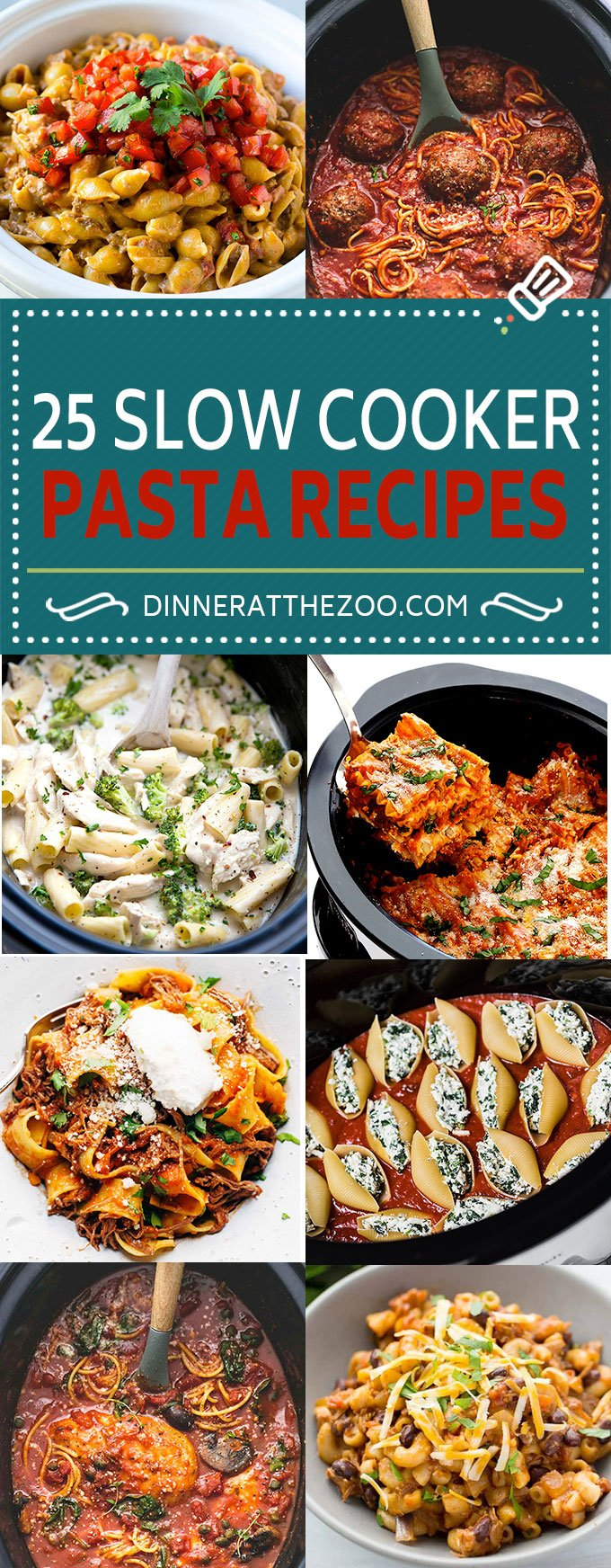 25 Slow Cooker Pasta Recipes