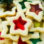 These beautiful stained glass cookies are buttery sugar cookies with a candy center.