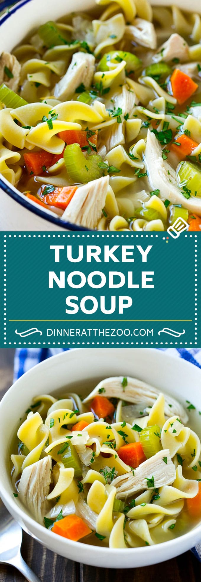 Turkey Noodle Soup | Leftover Turkey Recipe | Turkey Soup