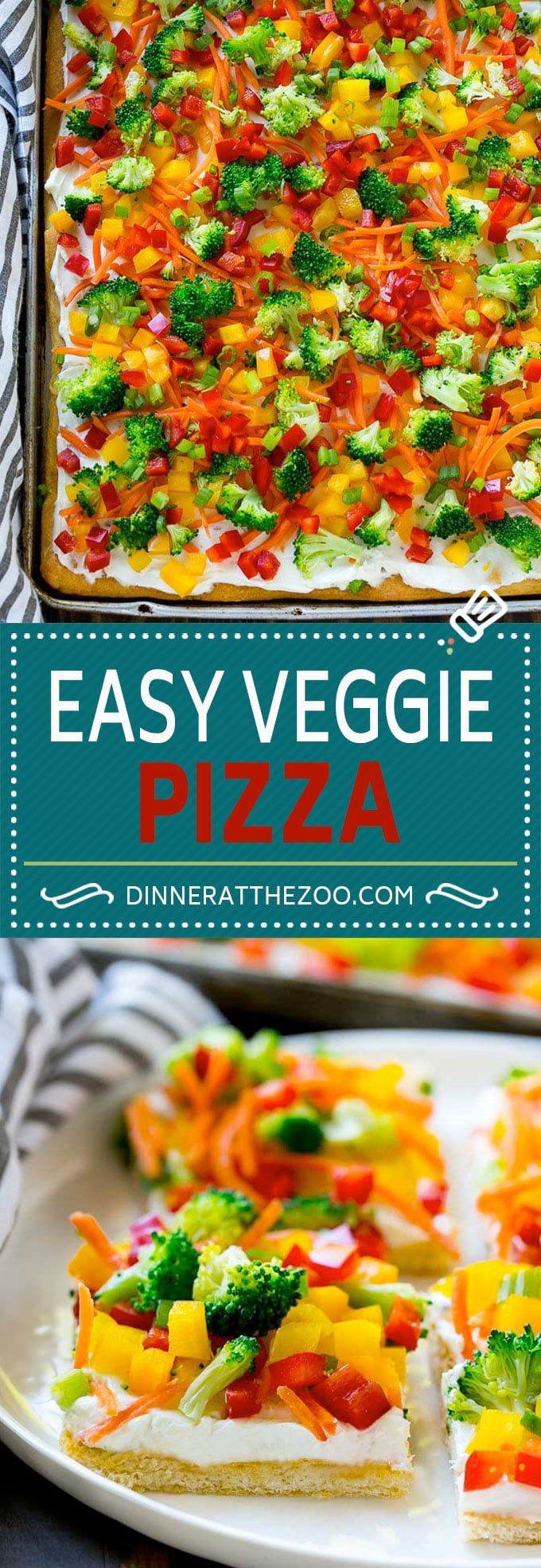 Veggie Pizza Recipe | Crescent Veggie Pizza | Vegetable Pizza Recipe | Holiday Appetizer | Homemade Veggie Pizza