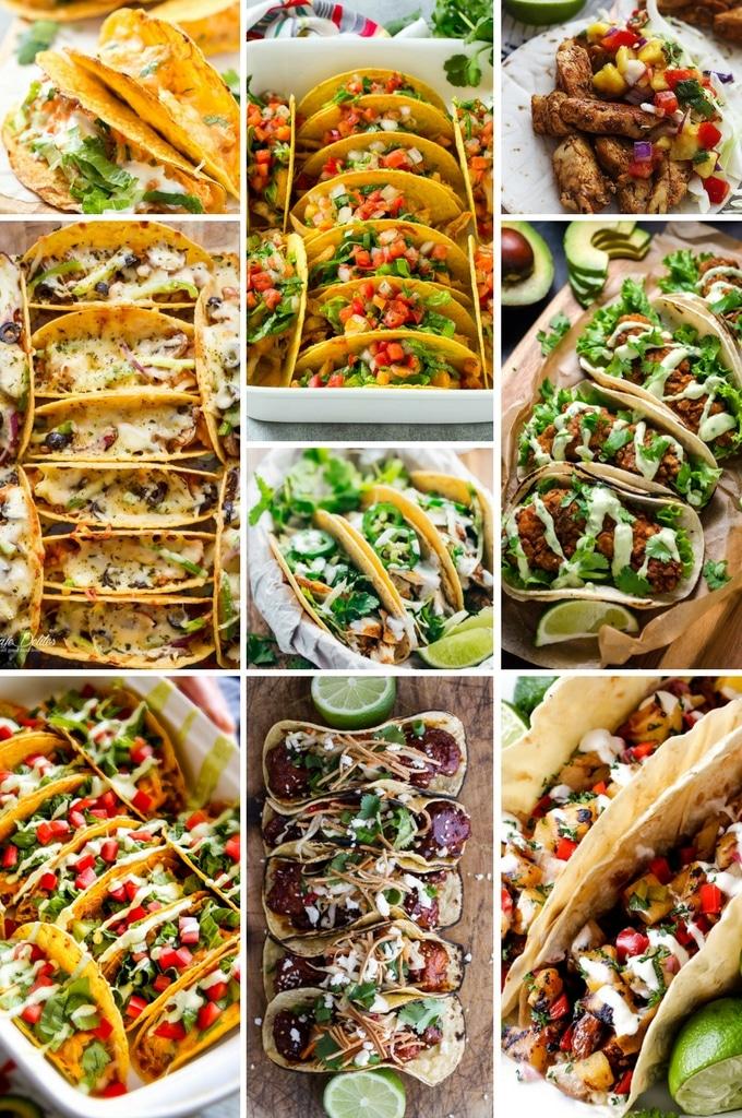 Chicken taco recipes including Korean tacos, ancho chicken tacos, fried chicken tacos and more delicious options.