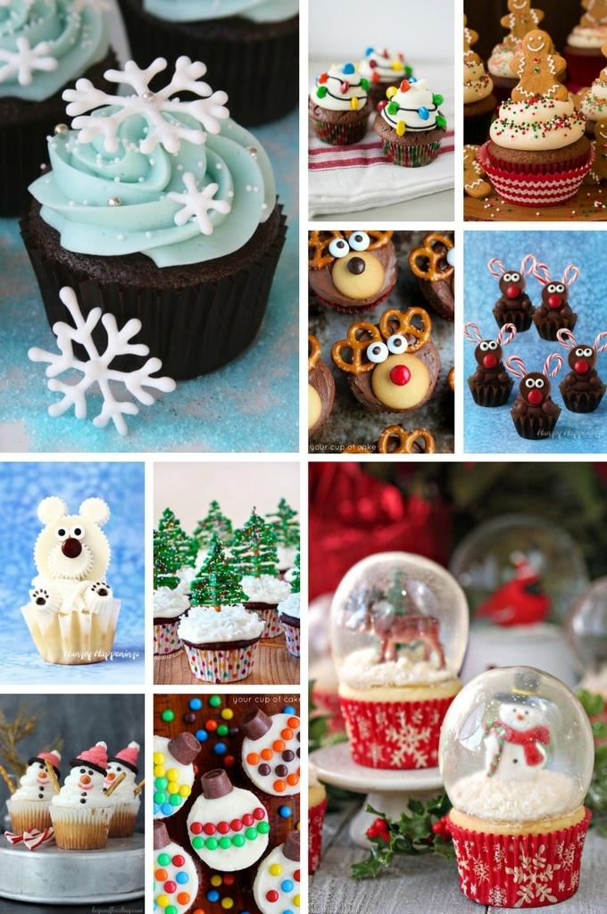 Christmas Cupcakes of various designs.