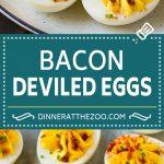 Bacon Deviled Eggs | Deviled Eggs Recipe #eggs #keto #lowcarb #bacon #appetizer #dinneratthezoo