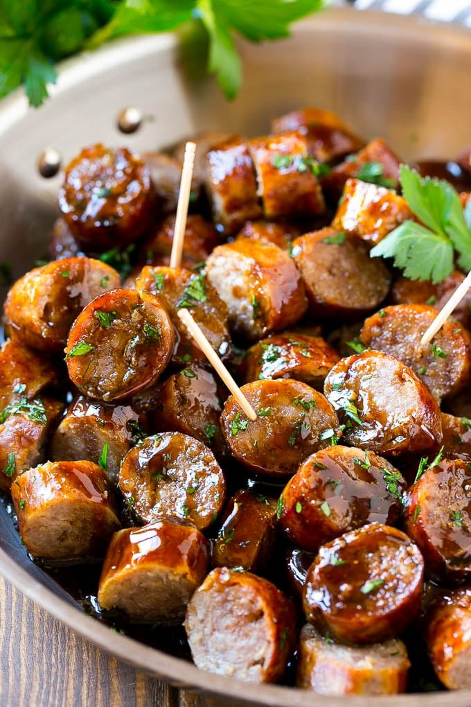 These beer brat bites are the perfect party snack.