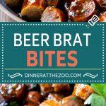 Beer Brat Bites Recipe   Sausage Appetizer   Bratwurst Recipe