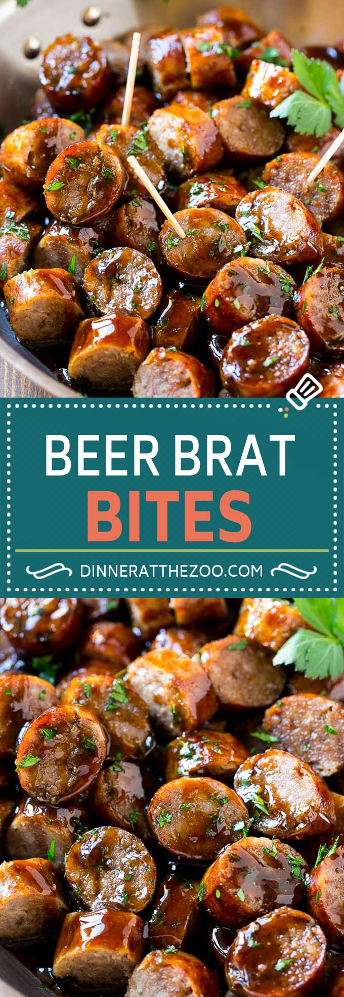 Beer Brat Bites Recipe | Sausage Appetizer | Bratwurst Recipe