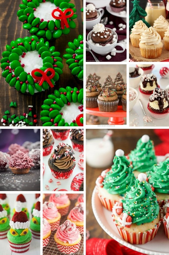 christmas wreath cupcakes recipe below - Christmas Cupcakes