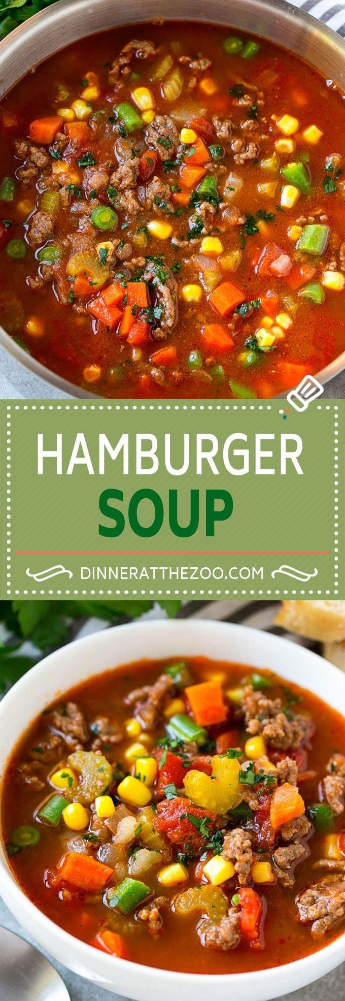 Hamburger Soup Recipe | Hamburger and Vegetable Soup | Hamburger and Potato Soup | Hamburger Stew | Ground Beef Soup #soup #hamburger #groundbeef #dinner #veggies #dinneratthezoo