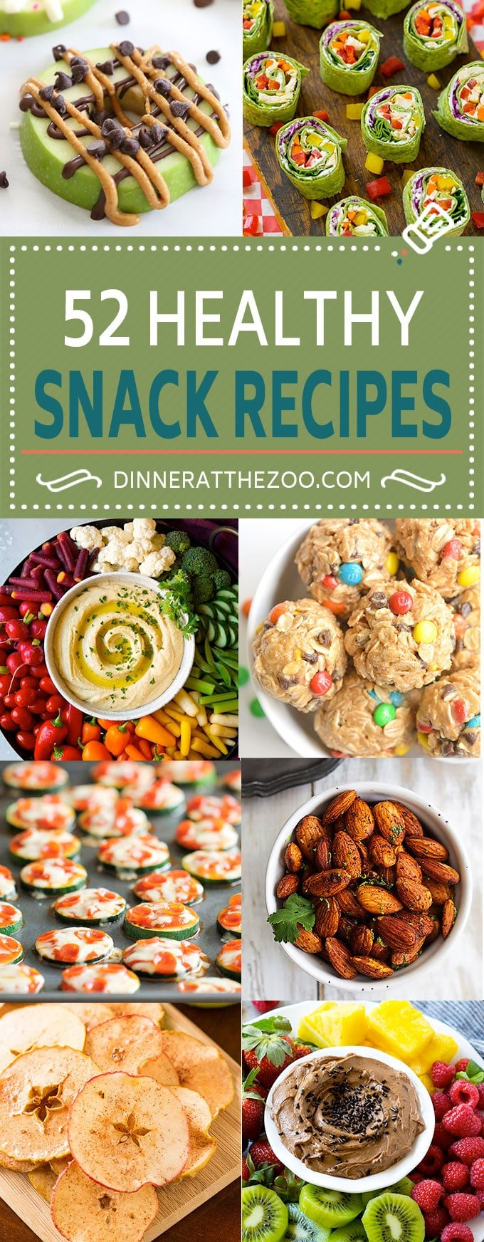 52 Healthy Snack Recipes | Snack Ideas #snacks #healthy #dinneratthezoo #cleaneating