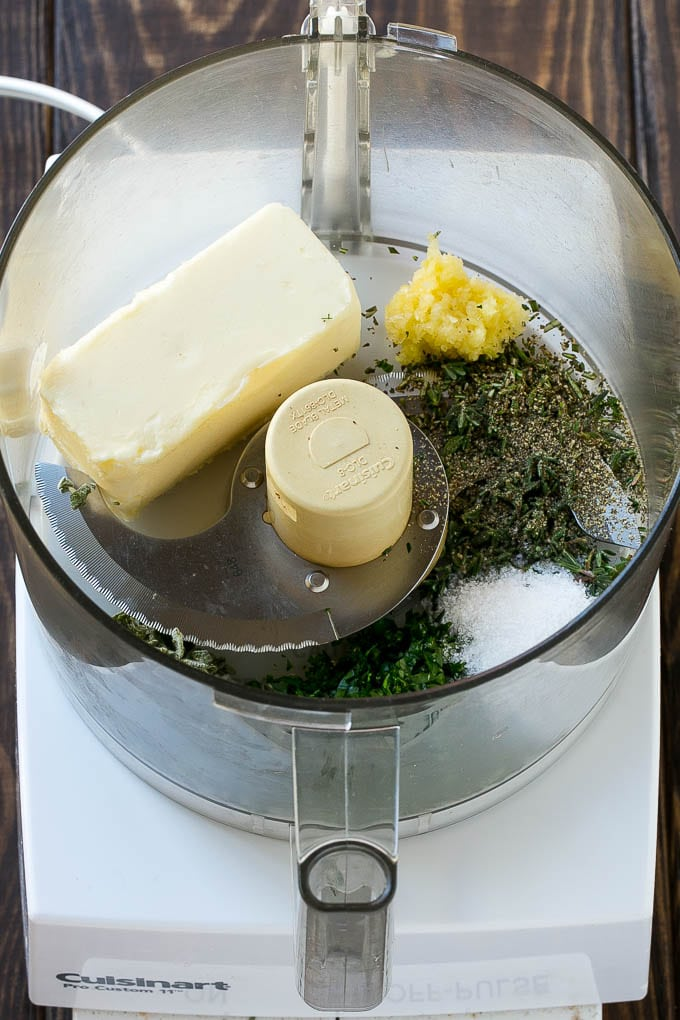 Compound butter for herb roasted turkey.