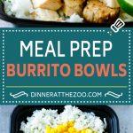 Meal Prep Burrito Bowls | Chicken Burrito Bowls | Meal Prep Recipe | Burrito Bowl Recipe
