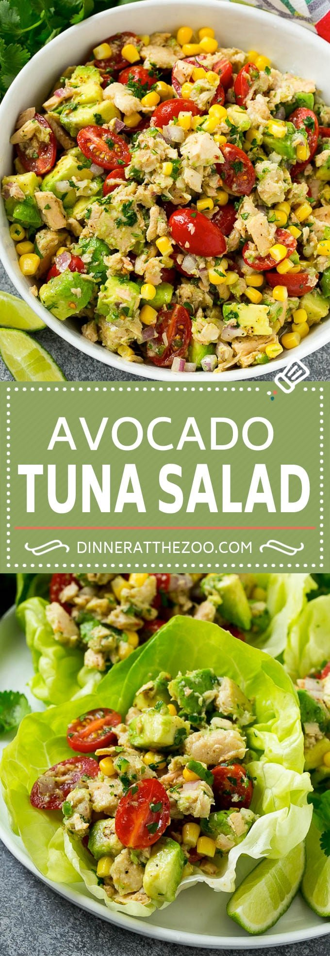 Avocado Tuna Salad Recipe | Mexican Tuna Salad | Easy Tuna Salad | Healthy Tuna Salad #tunasalad #tuna #fish #seafood #avocado #lunch #dinneratthezoo
