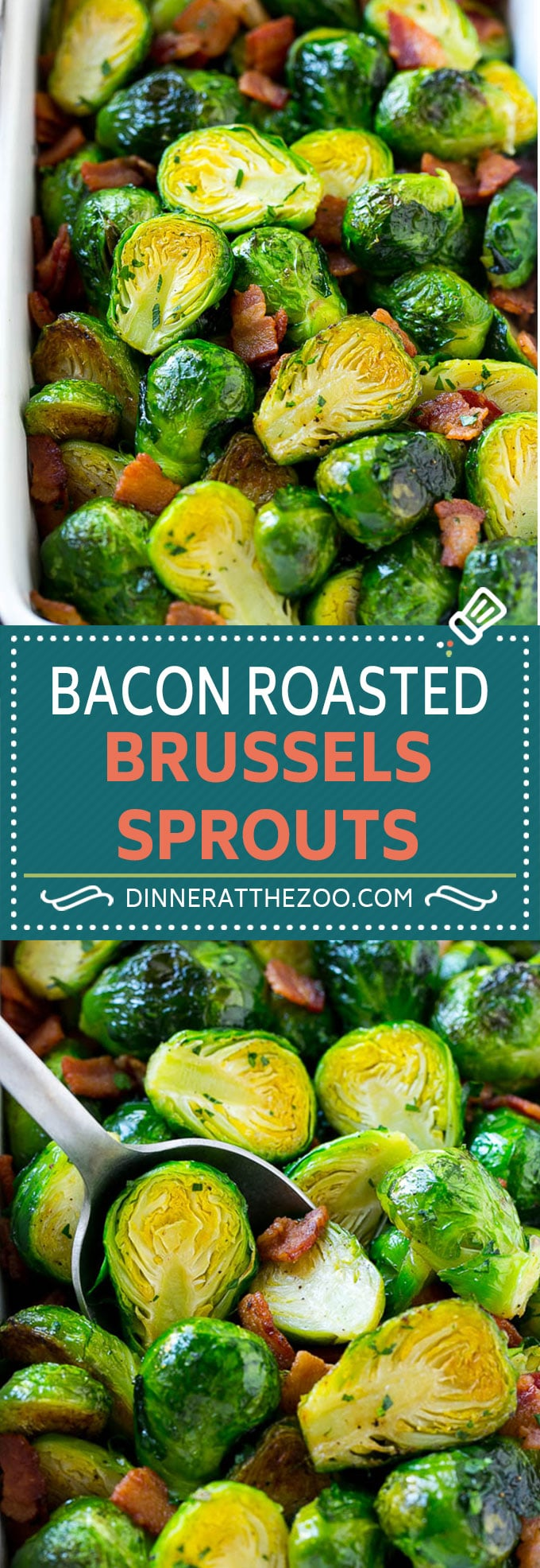 Bacon Roasted Brussels Sprouts Recipe | Crispy Brussels Sprouts | Brussels Sprouts with Bacon | Roasted Brussels Sprouts #brusselssprouts #bacon #sidedish #glutenfree #keto #dinner #dinneratthezoo #lowcarb