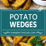 Baked Potato Wedges Recipe | Baked French Fries #potatoes #fries #sidedish #dinner #dinneratthezoo