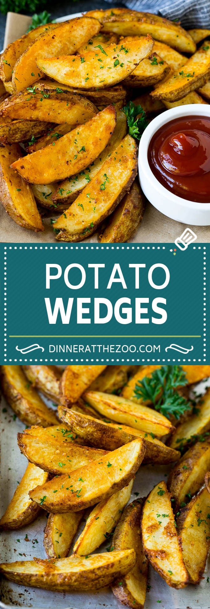 Baked Potato Wedges Recipe | Baked French Fries #potatoes #fries #sidedish #dinner #dinneratthezoo