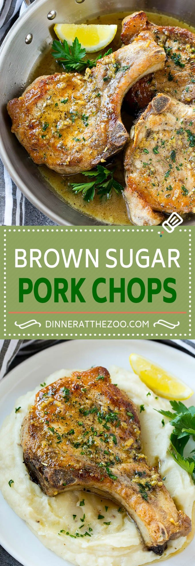 Brown Sugar Pork Chops Recipe | Bone In Pork Chops Recipe | Garlic Butter Pork Chops | Skillet Pork Chops