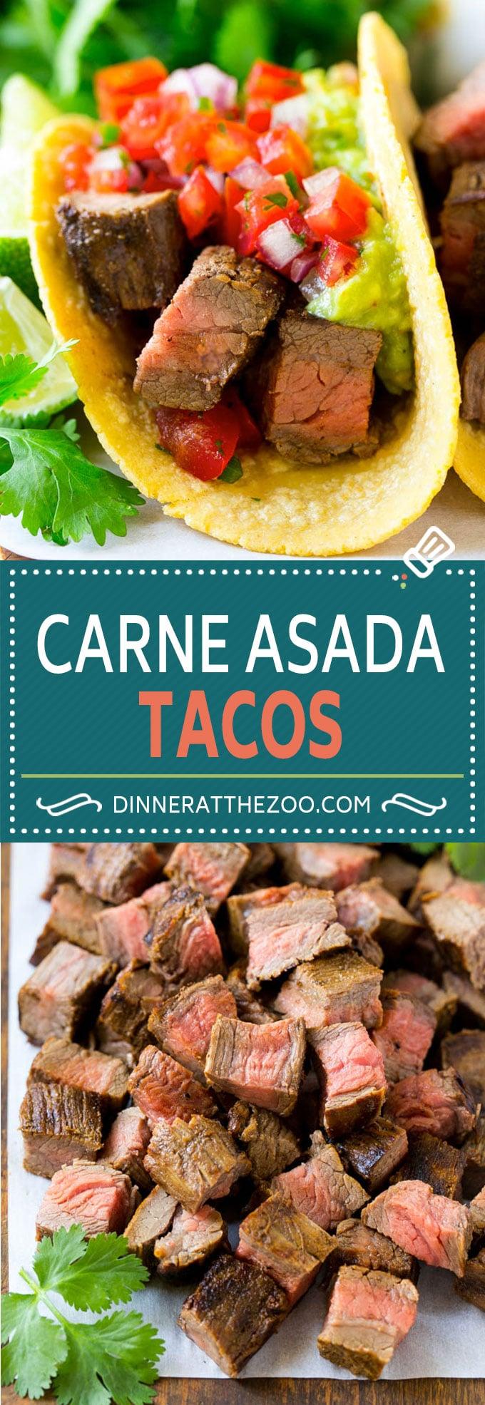 Carne Asada Tacos Recipe | Steak Tacos | Beef Tacos | Carne Asada