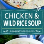 Chicken and Wild Rice Soup Recipe | Creamy Chicken Soup #chicken #rice #soup #bacon #dinner #dinneratthezoo