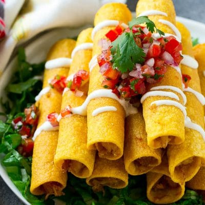 Chicken Taquitos (Baked or Fried)