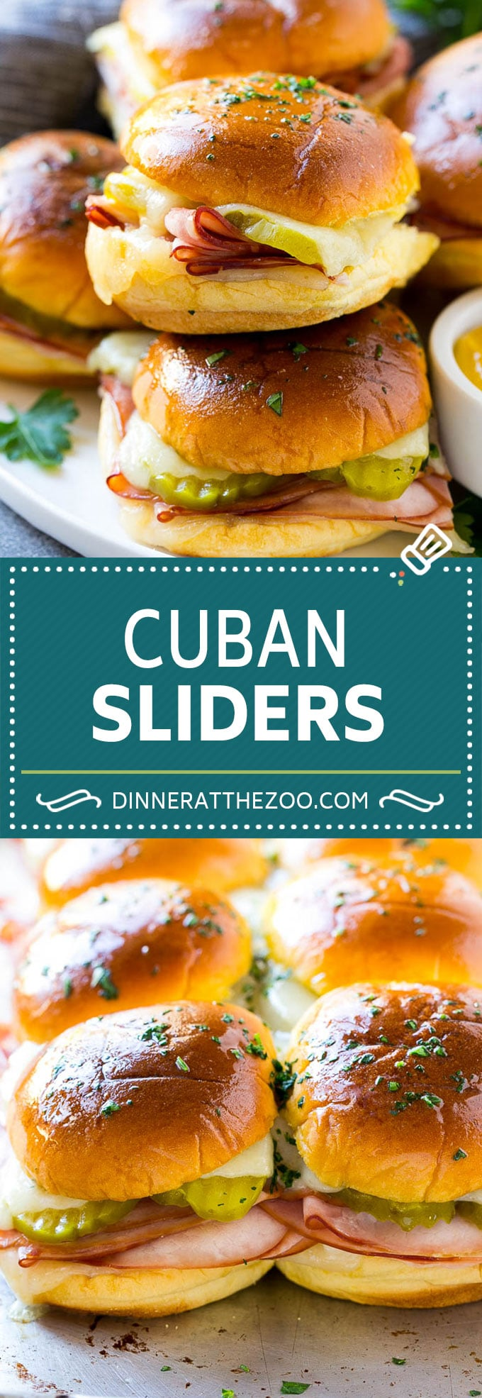 Cuban Sliders Recipe | Cuban Sandwich Recipe | Slider Sandwiches | Ham and Cheese Sliders #sliders #sandwiches #ham #cheese #appetizer #dinneratthezoo