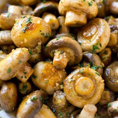 Garlic Mushrooms in Butter Sauce