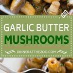 Garlic Mushrooms Recipe | Steakhouse Mushrooms | Sauteed Mushrooms | Garlic Butter Mushrooms | Mushroom Side Dish