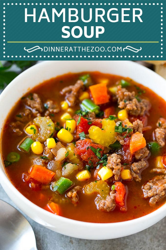 Hamburger Soup Recipe | Hamburger Stew | Ground Beef Soup #hamburger #soup #groundbeef #stew #dinner #dinneratthezoo