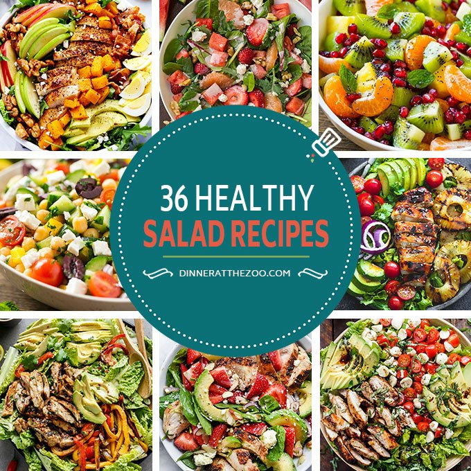 36 healthy salad recipes dinner at the zoo these healthy salad recipes are perfect for anyone looking to add a little more nutrition to forumfinder Image collections