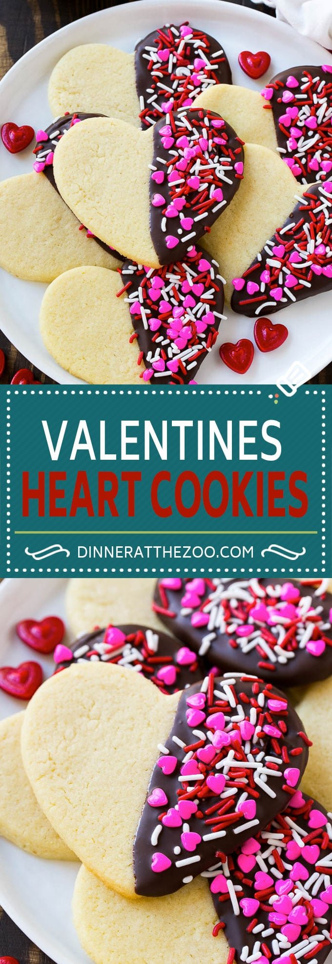 Heart Cookies Recipe | Heart Sugar Cookies | Valentine's Day Cookies | Heart Shaped Sugar Cookies | Valentine's Day Dessert #hearts #cookies #sugarcookies #valentinesday #sprinkles #dessert #dinneratthezoo