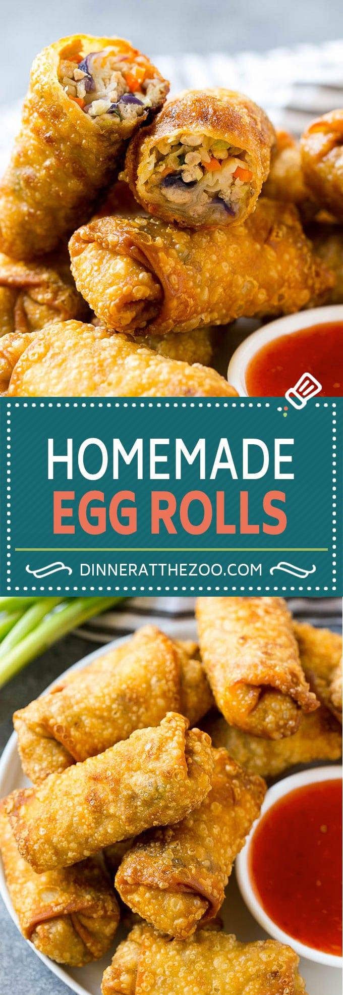 Homemade Egg Rolls | Chinese Egg Rolls | Pork Egg Rolls | Egg Roll Recipe #eggrolls #appetizer #dinneratthezoo #chinesefood
