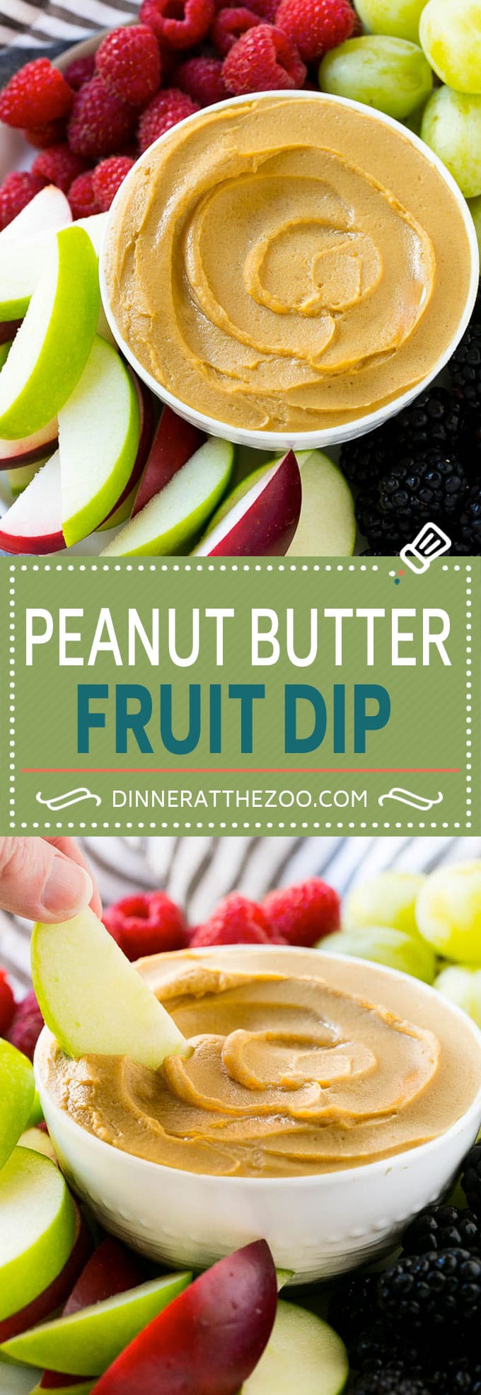 This peanut butter fruit dip is an easy and healthy snack!