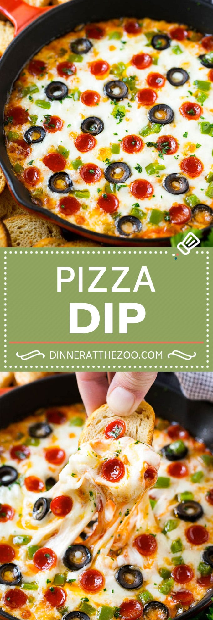 Pizza Dip Recipe | Pepperoni Pizza Dip | Crustless Pizza | Supreme Pizza Dip #pizza #dinneratthezoo #appetizer #dip