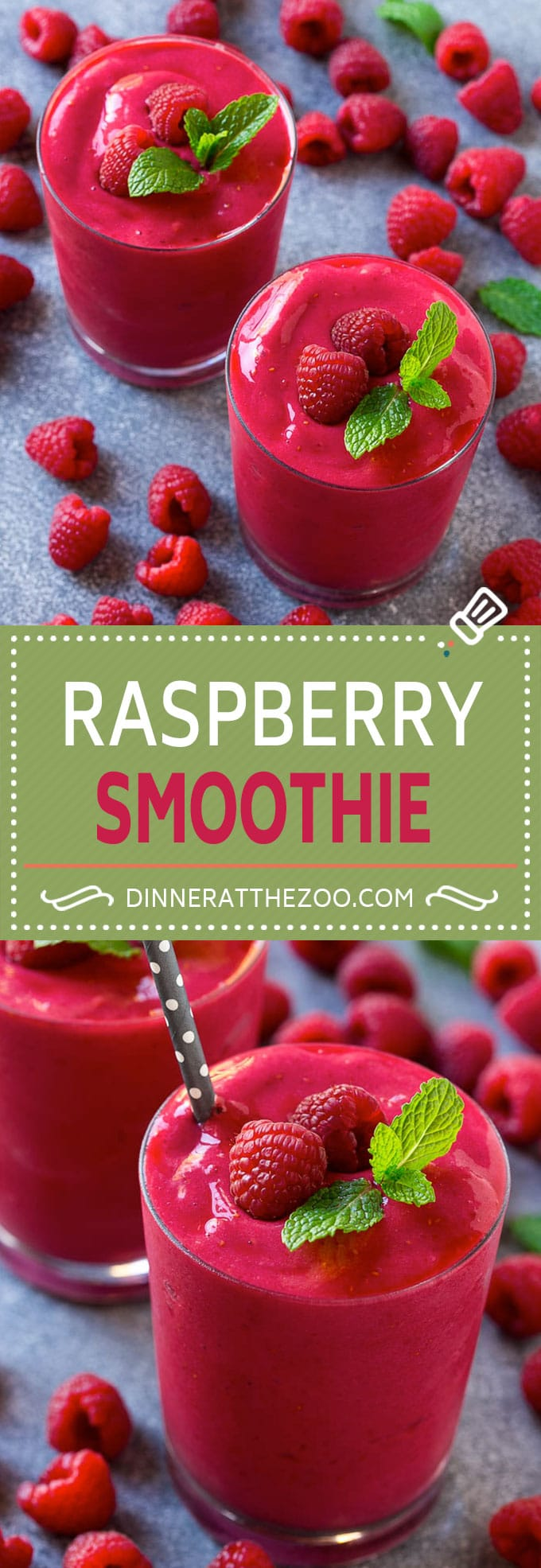 Raspberry Smoothie Recipe | Raspberry Banana Smoothie | Healthy Smoothie | Berry Smoothie | Greek Yogurt Smoothie #smoothie #raspberries #drink #healthy #dinneratthezoo