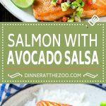 Salmon with Avocado Salsa Recipe | Seared Salmon Recipe | Healthy Salmon Recipe