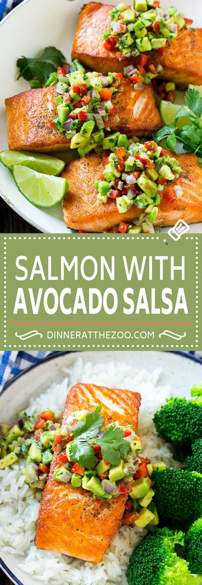 Salmon with Avocado Salsa Recipe | Seared Salmon Recipe | Healthy Salmon Recipe #salmon #avocado #salsa #seafood #lowcarb #keto #glutenfree #healthy #dinneratthezoo