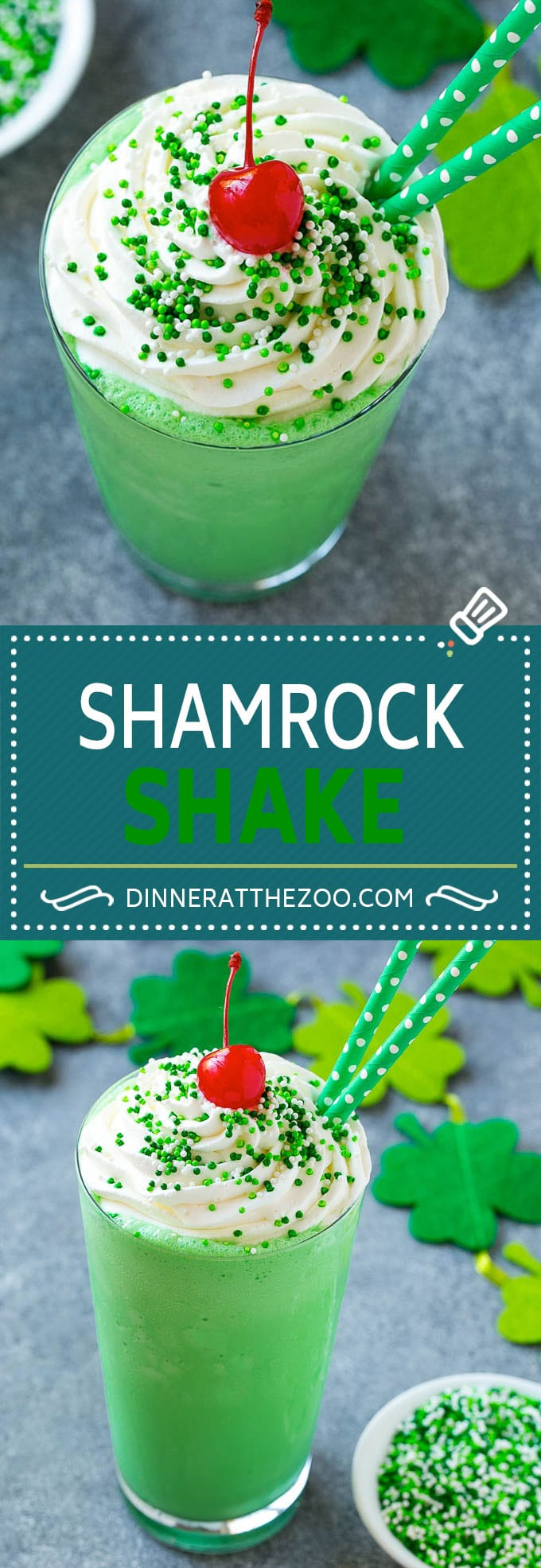 Shamrock Shake Recipe | McDonald's Shamrock Shake | Saint Patrick's Day Drink | Mint Milkshake