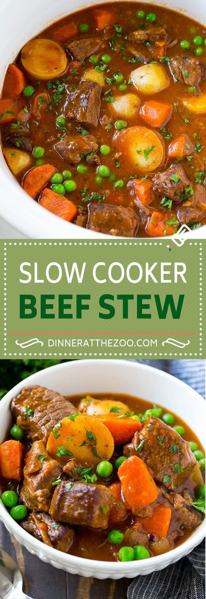 Slow Cooker Beef Stew Recipe | Beef and Potato Stew | Crock Pot Beef Stew | Easy Beef Stew #beef #beefstew #soup #slowcooker #crockpot #dinner #dinneratthezoo