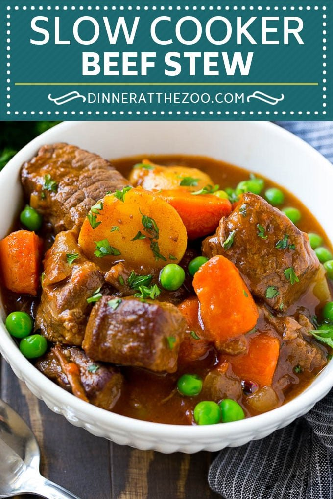 Slow Cooker Beef Stew Recipe | Crockpot Beef Stew #stew #soup #beef #slowcooker #crockpot #dinner #dinneratthezoo