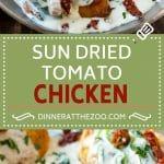 Sun Dried Tomato Chicken Recipe | Chicken in Sun Dried Tomato Sauce | Chicken with Cream Sauce | Chicken with Spinach | Italian Chicken