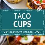 Taco Cups Recipe   Wonton Taco Cups   Taco Cupcakes   Mexican Appetizer