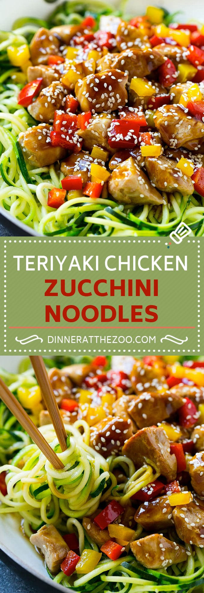 39 Healthy Zoodle (Zucchini Noodle) Recipes , Dinner at the Zoo