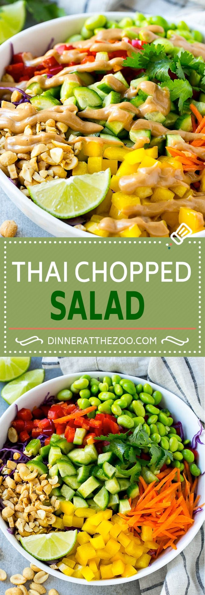 Thai Chopped Salad Recipe | Thai Salad | Chopped Salad #salad #healthy #veggies #dinneratthezoo
