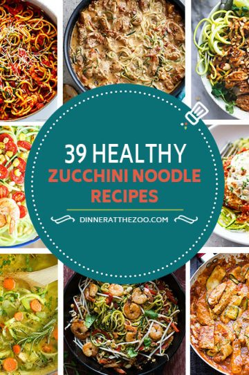 Healthy Zucchini Noodle and Zoodle Recipes