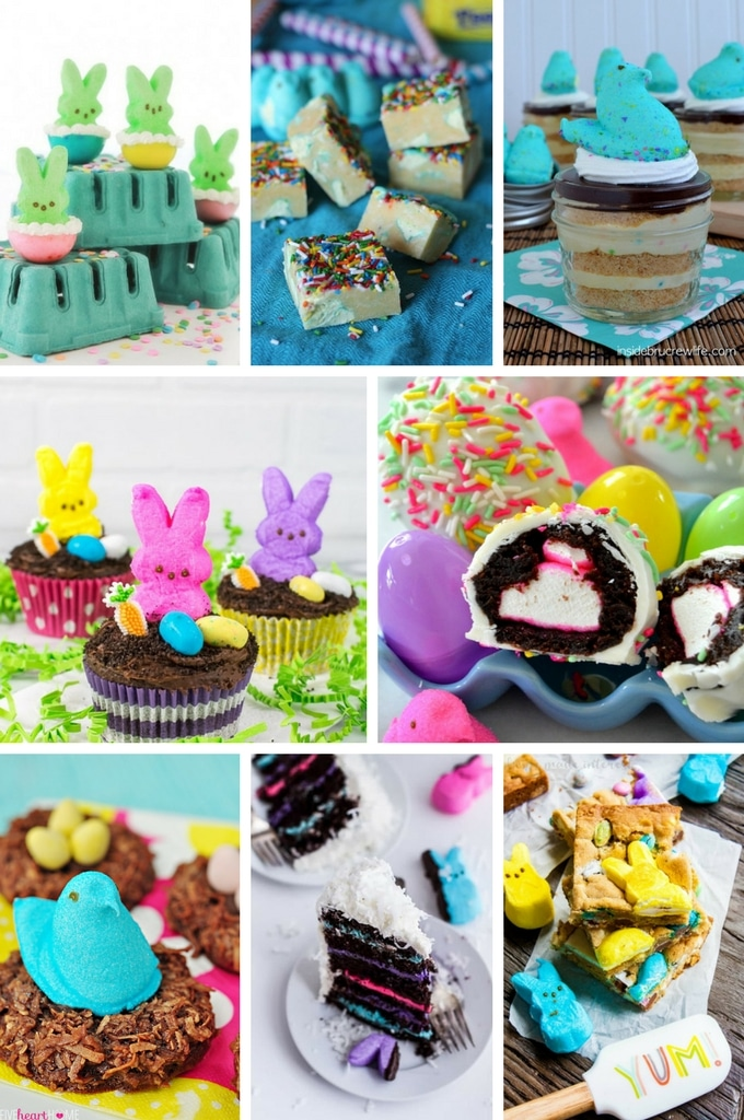 This collection of peeps recipes includes cake, cookies and candy that are perfect for Easter.