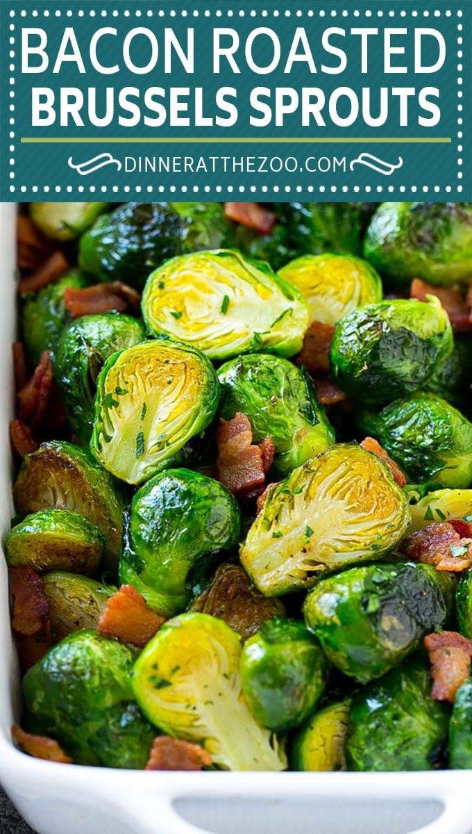 These bacon roasted brussels sprouts are crispy on the outside, soft on the inside and full of smoky flavor.