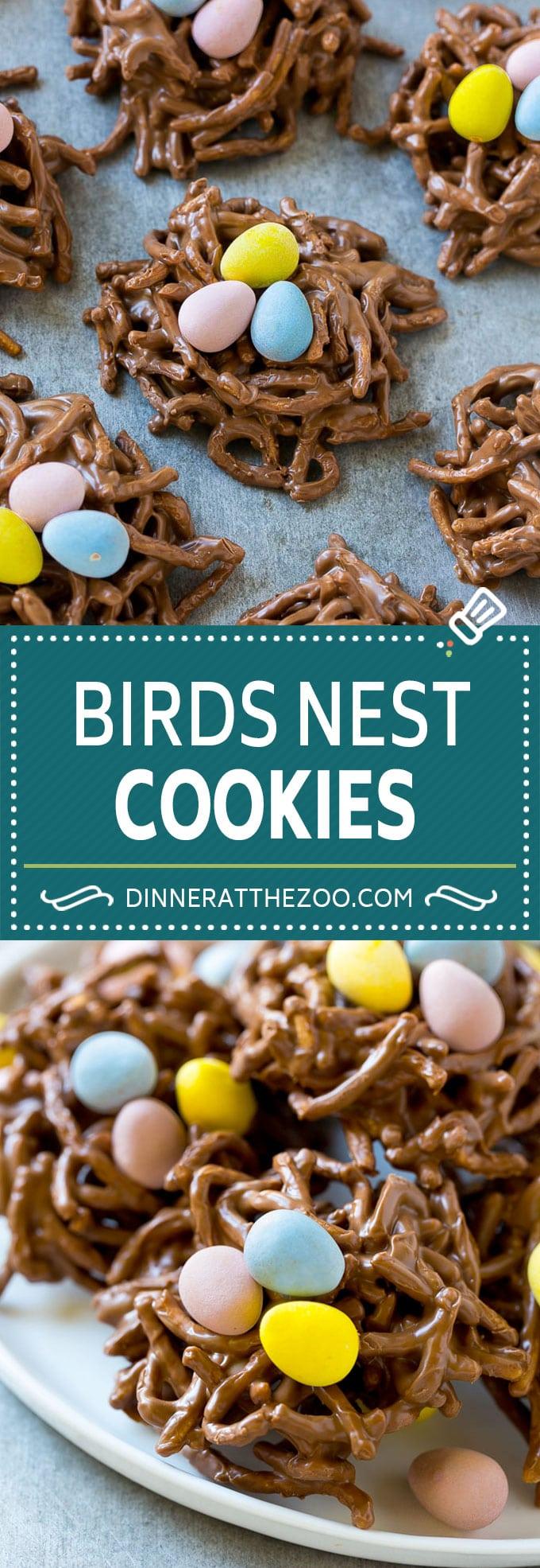 Birds Nest Cookies | Chow Mein Noodle Cookies | Easter Cookies | No Bake Cookies #cookies #easter #nobake #chocolate #dessert #dinneratthezoo