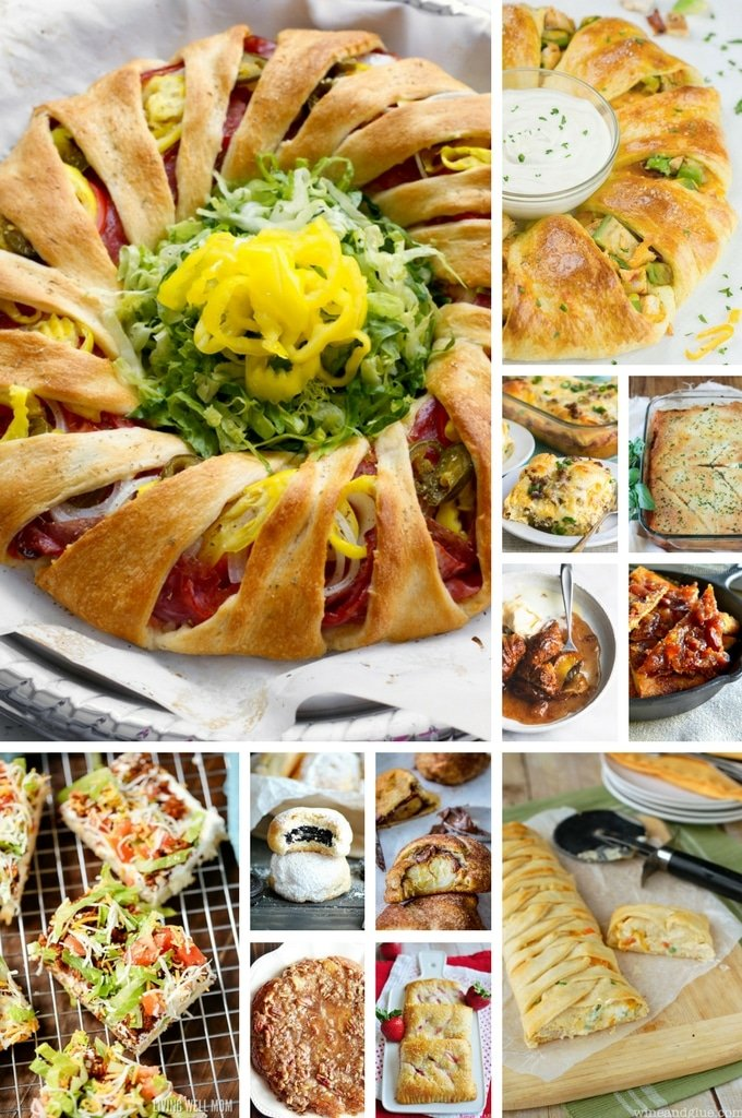 Crescent roll rings, breakfast casseroles, crescent roll desserts and crescent roll dinners.